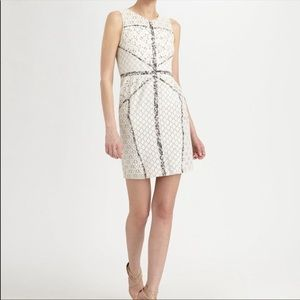 BCBGMAXAZRIA Women's White Andrea Dress